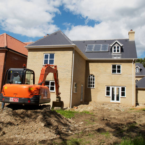 New homes under construction with solar central heating system, Ipswich, Suffolk, UK:ニュース(壁紙.com)