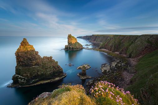 Scottish Highlands「UK, Scotland, Duncansby Stacks」:スマホ壁紙(8)