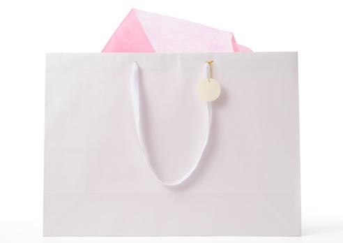 グッディバッグ「絶縁ショットの空白のショッピングバッグ、白でタグ」:スマホ壁紙(10)