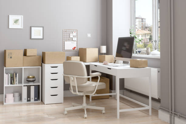 Working From Home According To New Normal With Cardboard Boxes Prepared To Be Sent:スマホ壁紙(壁紙.com)