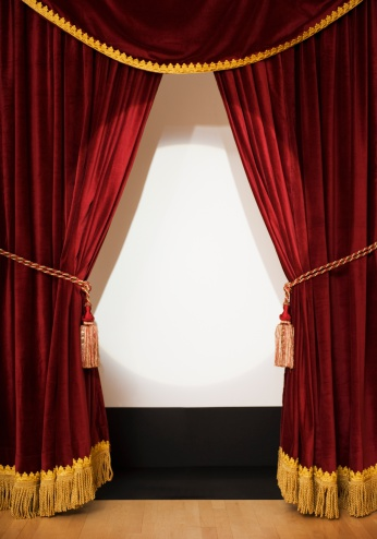 ������「Screen behind open stage curtains」:スマホ壁紙(14)