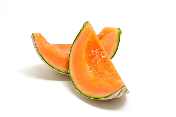 two pieces of fresh cantaloupe:スマホ壁紙(壁紙.com)
