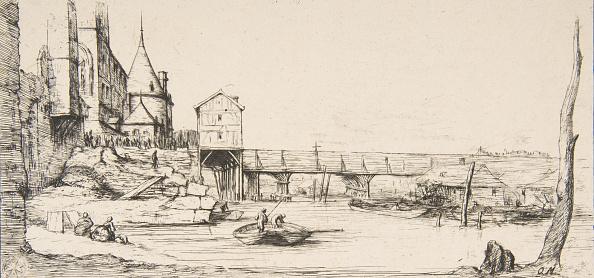 Footbridge「The Footbridge Temporarily Replacing The Pont-Au-Change」:写真・画像(4)[壁紙.com]