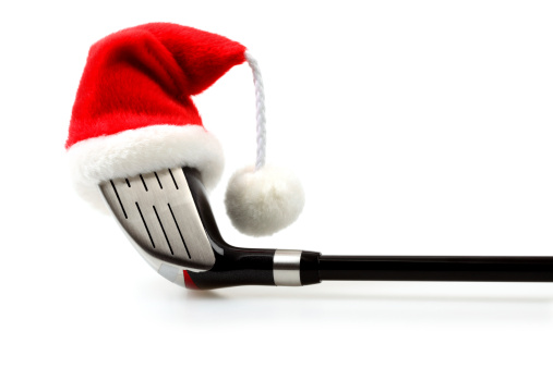 Santa Hat「Golf Driver with Christmas Cap」:スマホ壁紙(5)
