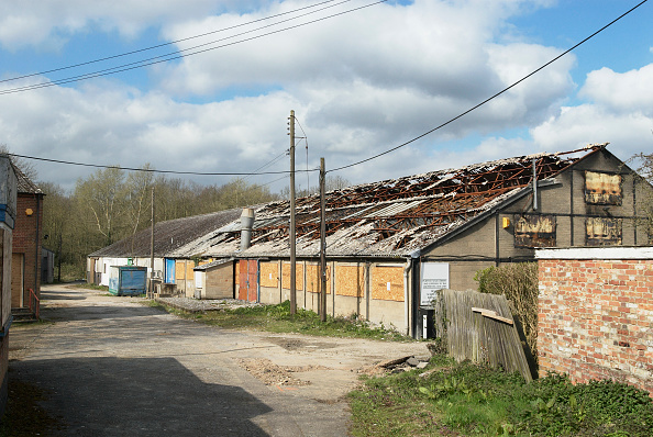 Copy Space「Factory that has had a fire, Hadleigh, Suffolk, UK」:写真・画像(5)[壁紙.com]