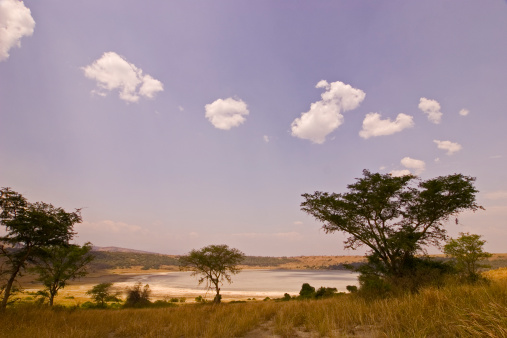 Queen Elizabeth National Park「Crater salt lake, Uganda」:スマホ壁紙(4)