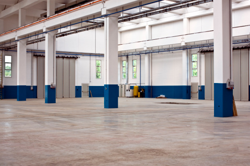 Wall - Building Feature「Empty Distribution Warehouse. Color Image」:スマホ壁紙(10)