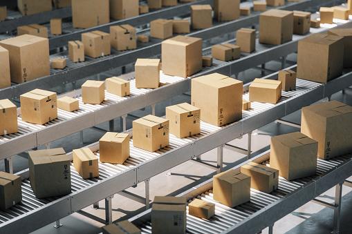 Box - Container「Boxes On Conveyor Belt」:スマホ壁紙(7)