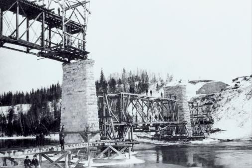 19th Century「Railroad bridge , Nipigon River , Ontario , Canada」:スマホ壁紙(16)