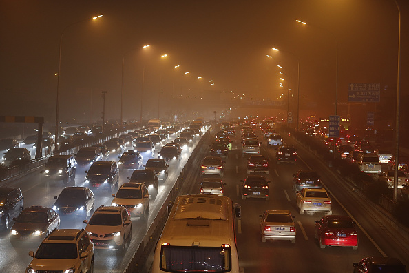 Environmental Damage「Beijing Blanketed In Heavy Smog」:写真・画像(9)[壁紙.com]