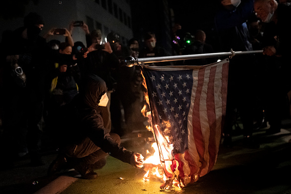"""Protest「Protesters Hold """"Defend Democracy"""" March In Portland」:写真・画像(15)[壁紙.com]"""