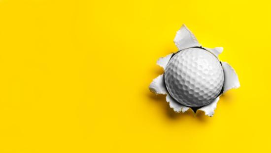 Sphere「Golf Ball stuck in Yellow Paper」:スマホ壁紙(15)