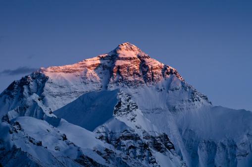 エベレスト山「エベレスト山の夕日」:スマホ壁紙(19)