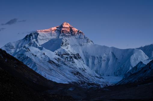 エベレスト山「エベレスト山の夕日」:スマホ壁紙(15)