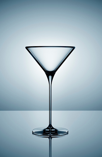 Martini「Empty martini glass on gray background」:スマホ壁紙(8)