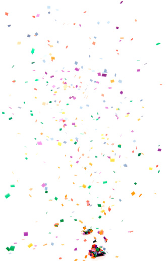 Colorful「Paper Confetti Falling, Isolated on White」:スマホ壁紙(12)