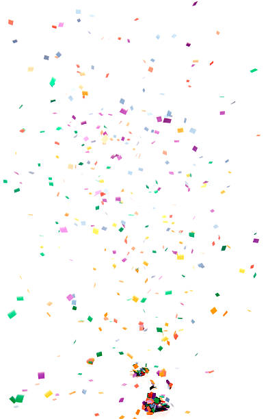 Paper Confetti Falling, Isolated on White:スマホ壁紙(壁紙.com)