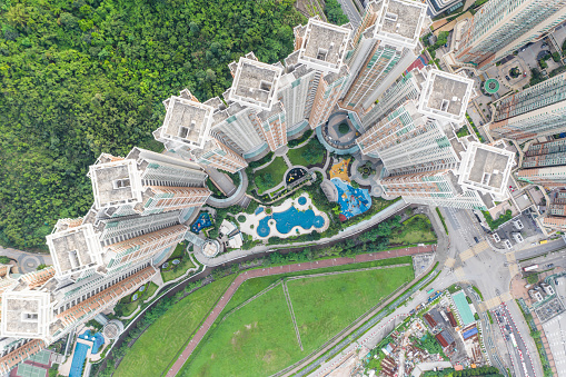 Housing Project「Private housing of Tseung Kwan O, Hong Kong from drone view」:スマホ壁紙(13)