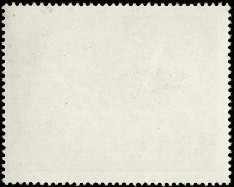 Postage Stamp「Blank white postage stamp with serrated edges」:スマホ壁紙(6)