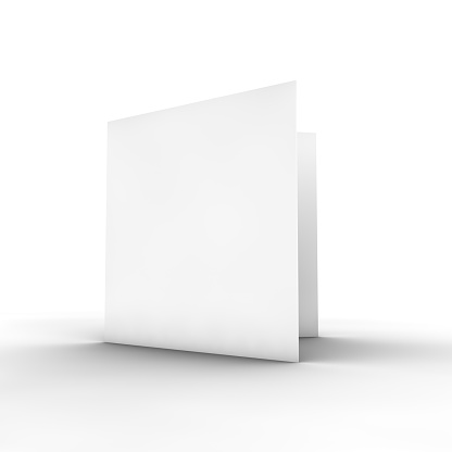 Square - Composition「Blank white bifold brochure on white」:スマホ壁紙(7)