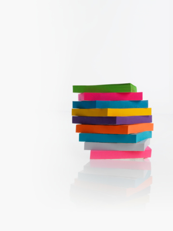 Adhesive Note「Stack of colorful post-it notes」:スマホ壁紙(19)