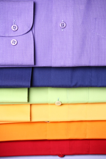 Clothing「Stack of colored shirts」:スマホ壁紙(14)