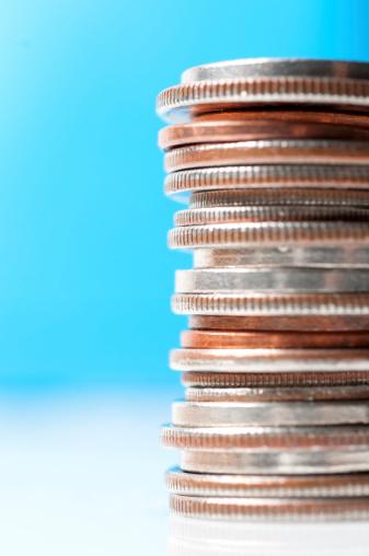 米国硬貨「積み上げられた硬貨の」:スマホ壁紙(15)