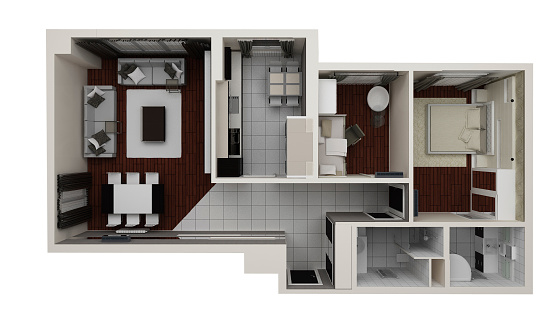 Housing Project「house plan top view」:スマホ壁紙(1)