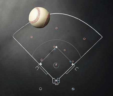 野球「Baseball on Blackboard」:スマホ壁紙(7)