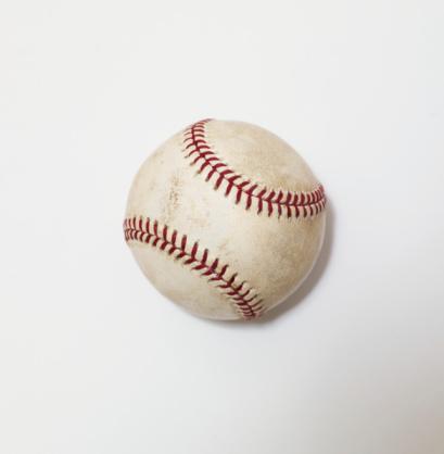 Dirty「Baseball on white background, close-up」:スマホ壁紙(5)