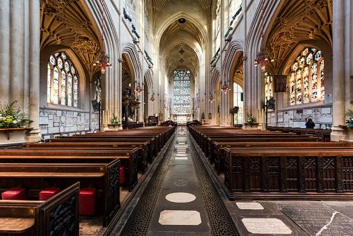 Abbey - Monastery「Abbey Church of Saint Peter and Saint Paul, Bath, Uk」:スマホ壁紙(16)