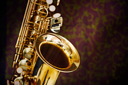 Rock Music「Golden saxophone gleams against a background of richly figured silk」:スマホ壁紙(18)