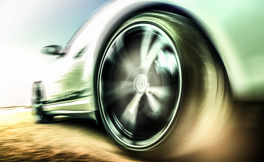 豪華 ビーチ「Motion blurred sports car tire」:スマホ壁紙(11)