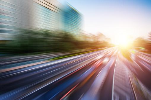Elevated Road「Motion blur image of traffic」:スマホ壁紙(17)