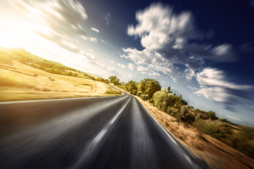 Winding Road「Motion blurred asphalt road」:スマホ壁紙(15)