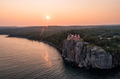 Great Lakes「Split Rock Lighthouse at Sunset -L ake Superior」:スマホ壁紙(8)