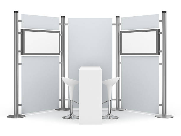 Trade Advertising Stand with two lcd displays:スマホ壁紙(壁紙.com)