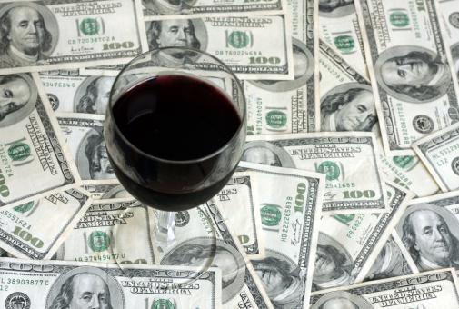 American One Hundred Dollar Bill「Wine - Cash Background」:スマホ壁紙(9)