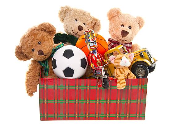 Donation Box with Teddy Bear, Balls and Toys:スマホ壁紙(壁紙.com)