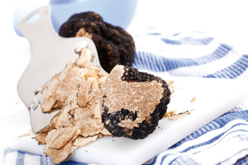 Mushroom「Black Truffles on checkered dish cloth」:スマホ壁紙(4)