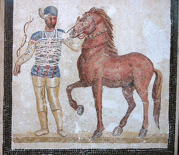Mosaic「Mosaic Of Roman Charioteer And Horse Of The Blue Team Of The Circus Maximus.  Culture: Roman.  Perio Artist: Werner Forman.」:写真・画像(13)[壁紙.com]