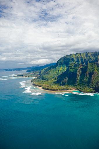 Helicopter「na pali の海岸カウアイ島、ハワイ諸島」:スマホ壁紙(13)