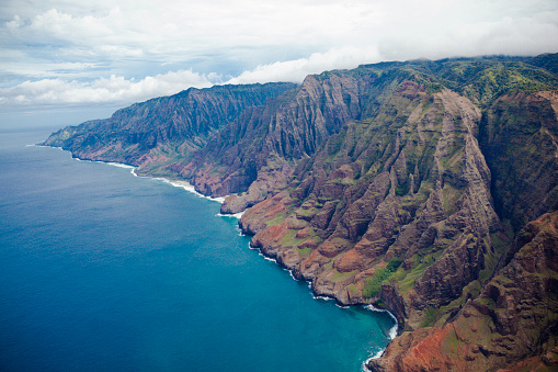 Helicopter「na pali の海岸カウアイ島、ハワイ諸島」:スマホ壁紙(14)