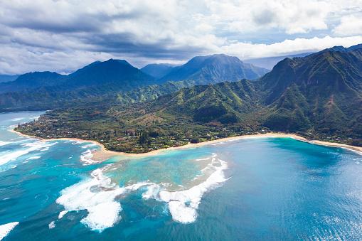 Helicopter「na pali の海岸のハワイ」:スマホ壁紙(12)