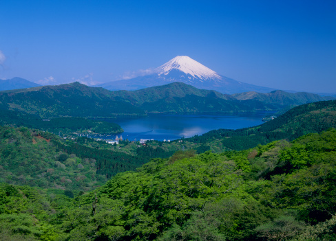 Mt Fuji「Lake Ashi and Mount Fuji, Hakone, Kanagawa, Japan」:スマホ壁紙(13)