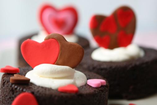 Valentine's Day「バレンタインデーのブラウニー」:スマホ壁紙(4)