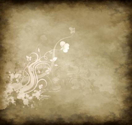 カリグラフィー フローリッシュ「Grunge floral background」:スマホ壁紙(16)