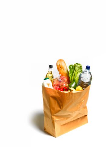 Consumerism「Groceries, shopping in brown paper bag」:スマホ壁紙(17)