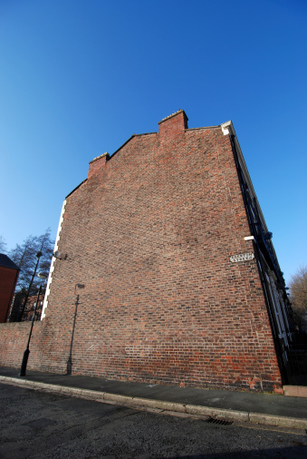 Brick Wall「Big empty wide angle house wall with copy space」:スマホ壁紙(7)