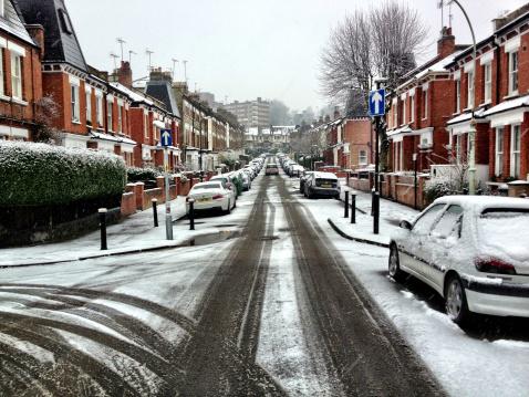 Snow scene「ロンドン、英国、ロンドン地区の Haringey 、Highgate ヴィラージュ」:スマホ壁紙(16)